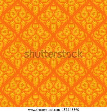 Vector - orange pattern seamless (ornamental imitation of fire)