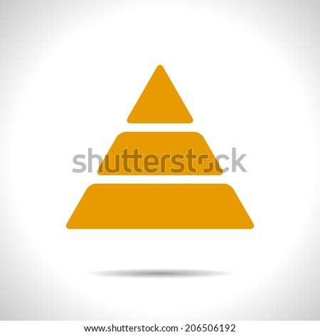Vector orange pyramid icon. Eps10
