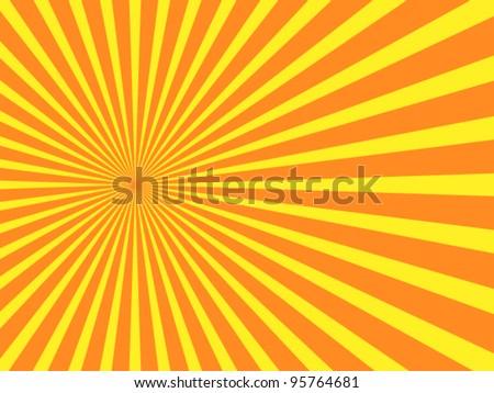 vector orange rays background