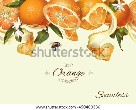 vector orange seamless...