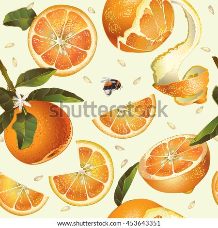 vector orange seamless pattern