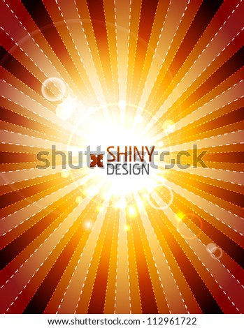 Vector orange shiny abstract background