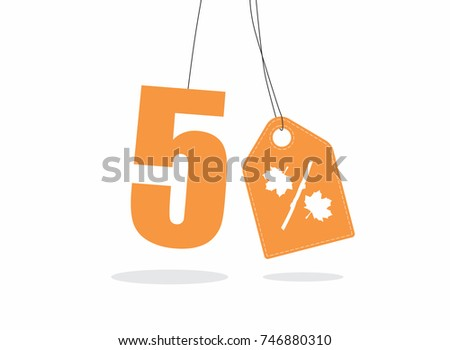 vector orange 5  text and a