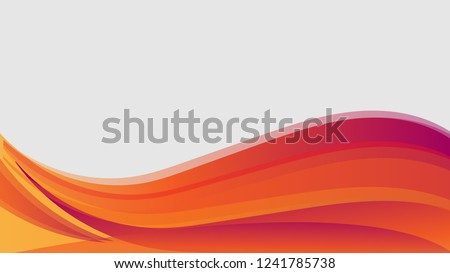 vector orange wavy wave