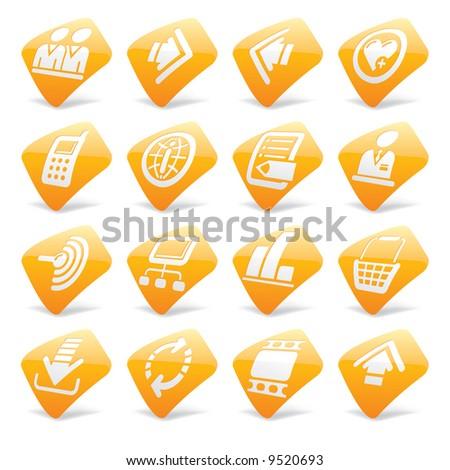 Vector orange website and internet icons 2