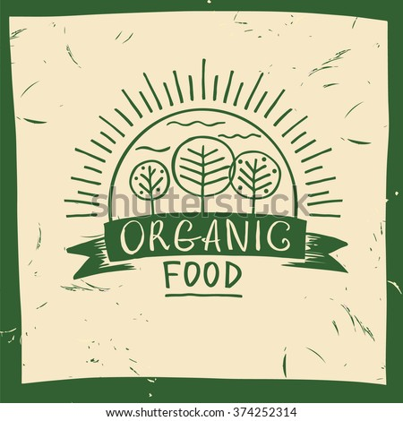 vector organic food hand drawn