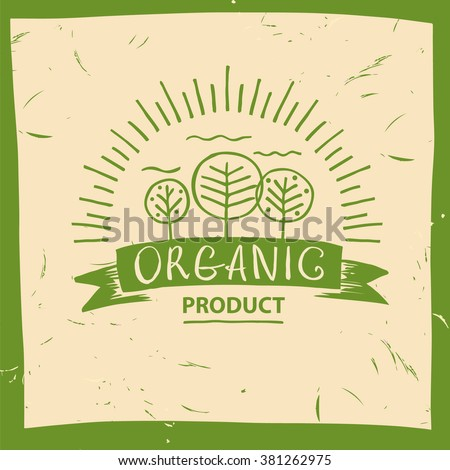vector organic product hand