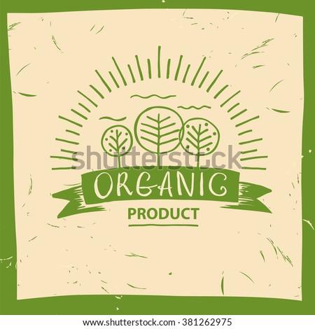 vector organic product hand