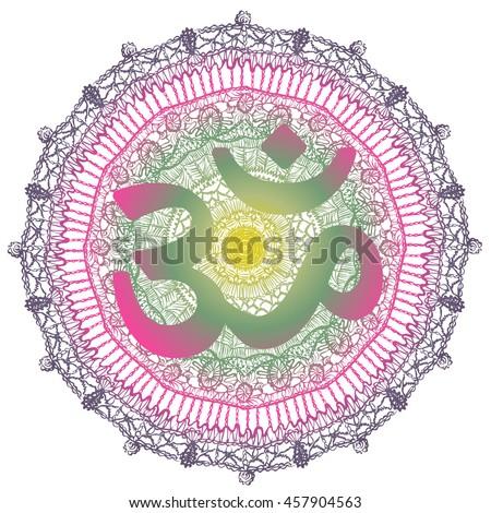 vector oriental abstrct mandala