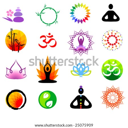 vector oriental icons set