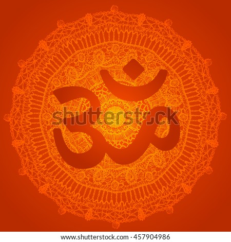 vector oriental red mandala