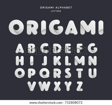 Vector Origami Alphabet Letter Collection Paper Style And Color