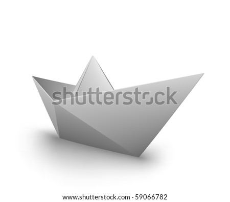 VECTOR origami paper boat