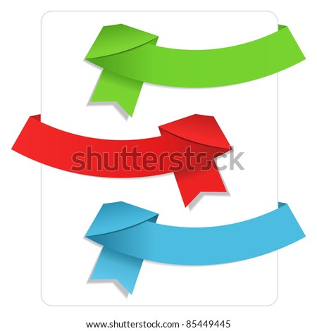 Vector Origami Ribbons