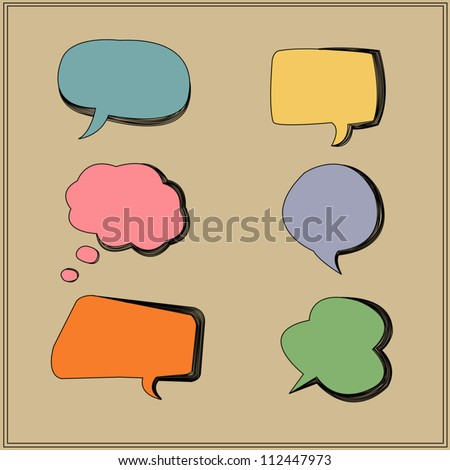 Vector origami  & speech bubbles