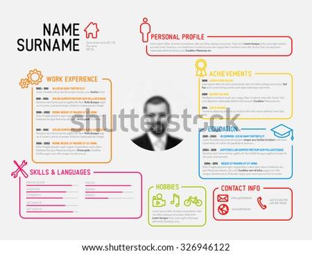vector original minimalist cv resume template creative version - Cv Resume Template Download