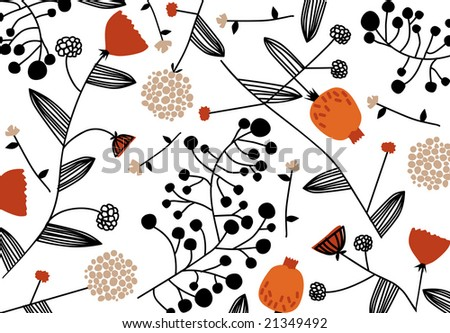 original wallpaper. stock vector : vector - original nature wallpaper