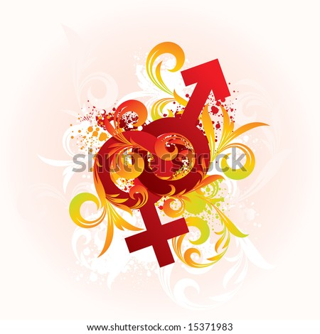 stock vector : Vector ornament and sex symbols. Save to a lightbox ▼