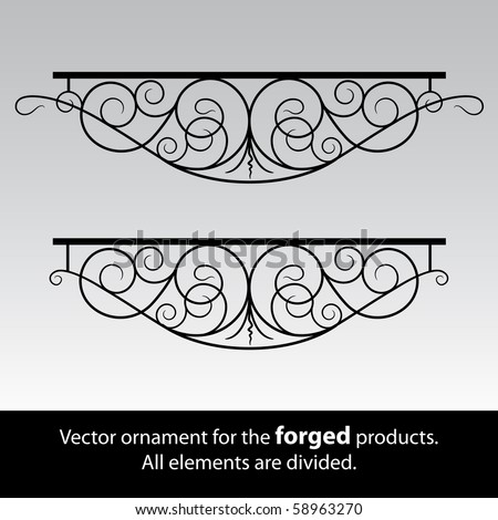 vector ornament for the forged