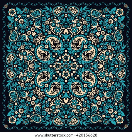 e9200093cc Vector Images, Illustrations and Cliparts: Vector ornament paisley ...