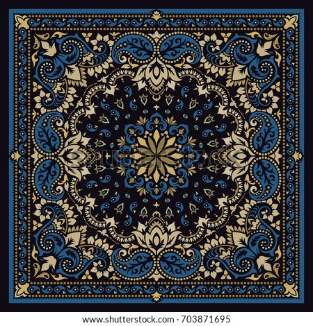 vector ornament paisley bandana ...