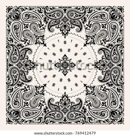 stock-vector-vector-ornament-paisley-bandana-print-silk-neck-scarf-or-kerchief-square-pattern-design-style-for