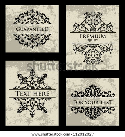 Vector Ornamental Frame Set.