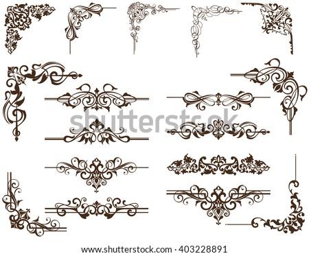 Vector Marcos florales, bordes y esquinas - Descargue Gráficos y ...
