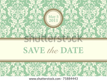 Vector Ornate Card Background. Easy to edit. Perfect for invitations or announcements.
