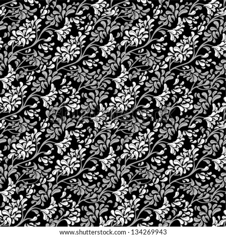 Vector - ornate floral pattern seamless