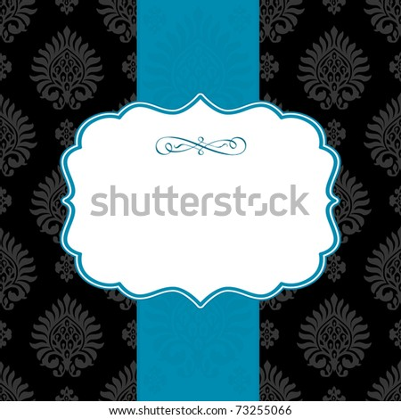 Vector ornate frame and repeating background. Easy to edit. Perfect for invitations or announcements.