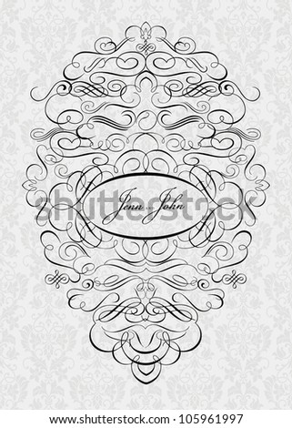 Vector Ornate Frame. Easy to edit, all ornaments are seperate. Perfect for invitations or announcements.