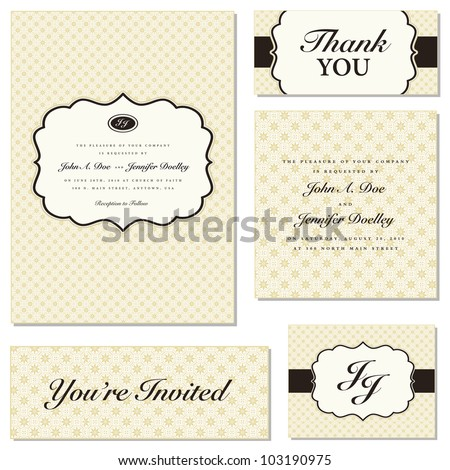 Vector Ornate Frame Set. Easy to edit. Perfect for invitations or announcements.