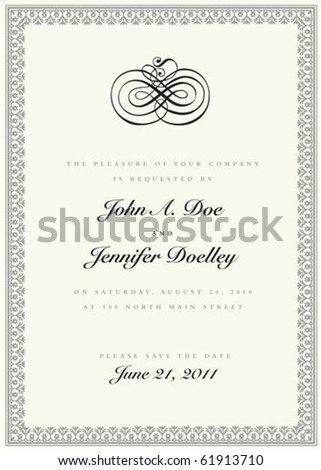 wedding invitation clip art borders. wedding invitation clip art