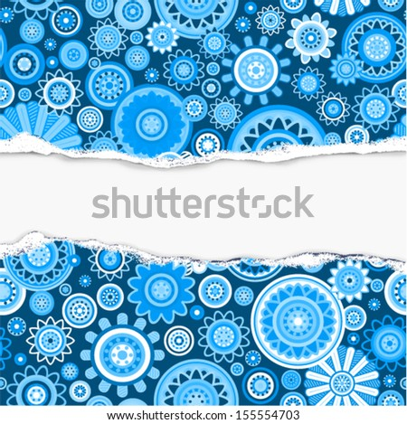 Vector ornate snowflake pattern (background)