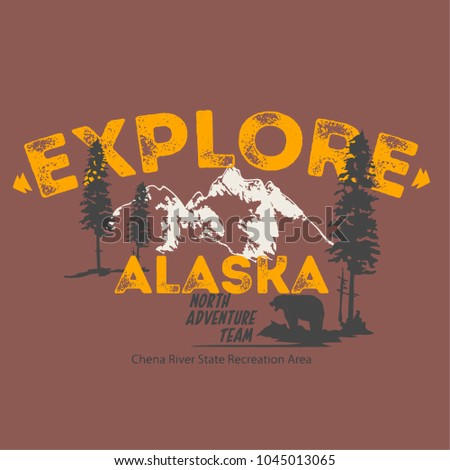 vector outdoor expedition illustration print