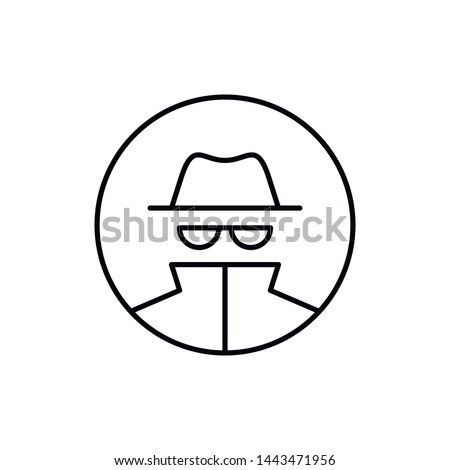 vector outline anonymous icon