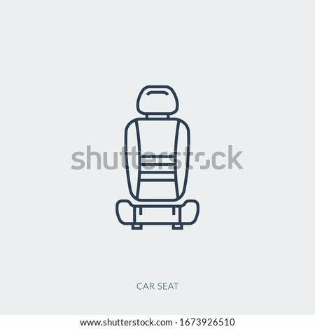 Vector outline icon of car part - single seat Foto stock ©