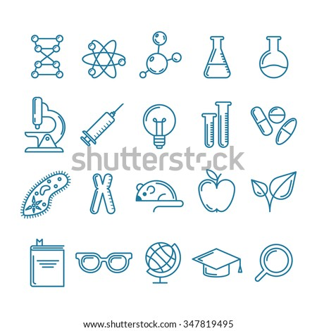 vector outline icons set and