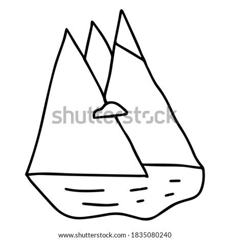 vector outline illustration of