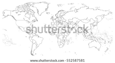 India map outline download free vector art stock graphics images vector outline of political world map gumiabroncs Image collections