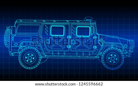 vector outline sketch military