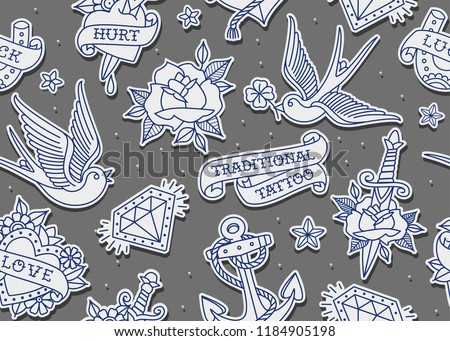 Old Style Tattoo Icons Download Free Vector Art Stock Graphics