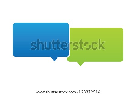 Vector Overlapping Speech Bubbles
