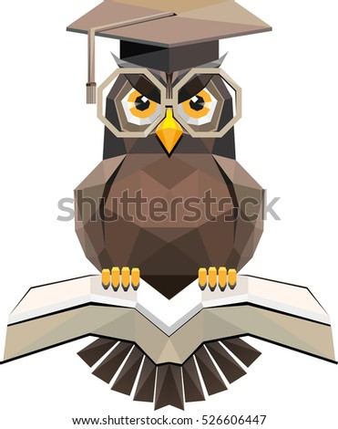 vector owl as symbol of science