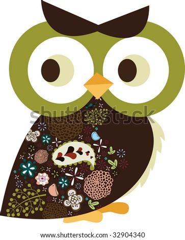 vector owl design