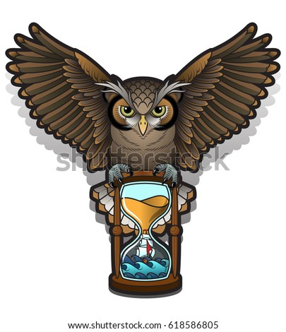 Vector Images, Illustrations and Cliparts: Vector Owl Tattoo Design ...