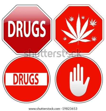 Vector pack of stop signs isolated on pure white (new glossy vs old one color) - also available as direct JPEG file in my gallery
