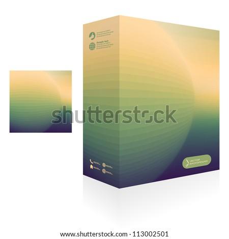 Vector packaging box.