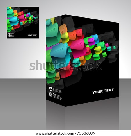 Vector packaging box. Abstract illustration.